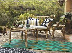 MASTHOLMEN salontafel | IKEA IKEAnl IKEAnederland designdroom woonkamer kamer inspiratie wooninspiratie interieur wooninterieur tafel buiten outdoor balkon tuin handgemaakt natuurlijk duurzaam bamboe rotan bank