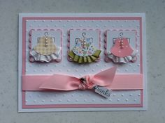 Christi's Creative Crew: Sweet Baby Thank Yous Owl punch and ribbon Baby Girl Cards, New Baby Cards, Owl Punch Cards, Owl Card, Baby Shower Cards, Card Tags, Card Kit, Creative Cards, Kids Cards