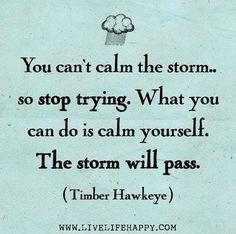 The storm will pass.
