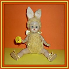 1950's Vogue Ginny Doll - Wears Vintage Custom Kinder Crowd  #DollswithClothingAccessories