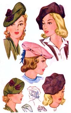 My Puzzles - Vintage Stuff - 1942 Women's Fashion Berets
