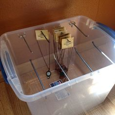I thought I'd share my storage solution for transporting jewelry to art fairs: a…