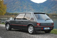Image may contain: mountain, car, outdoor and nature Peugeot 205 Gti, 205 Turbo 16, Automobile, Vans, France, Top Cars, Car Set, Fiat 500, Sport Cars