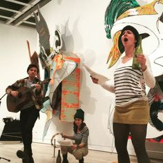 """For chapters 37–40 of #MobyDick, @amyvirginia stages """"Midnight, Forecastle,"""" a play-within-a-book, in collaboration with @scoutsnyc. #MDMNYC #FrankStella"""