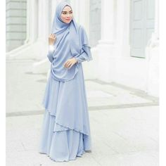 Islamic Fashion, Muslim Fashion, Modest Fashion, Korean Fashion, Hijab Style Dress, Hijab Outfit, Hijab Style Tutorial, Plain Dress, Abaya Fashion