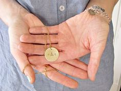 DIY metal monogramed stamped pendant, i really want to get a metal stamping kit SOooooo badly!