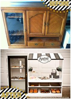 Play Bakery By My Simple Obsession. Diy Kids Furniture, Repurposed Furniture, Furniture Makeover, Cheap Furniture, Discount Furniture, Smart Furniture, Furniture Movers, Furniture Layout, Classic Furniture