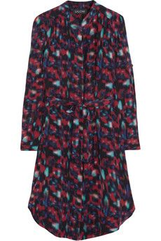 Saloni Katrina printed silk crepe de chine shirt dress | THE OUTNET