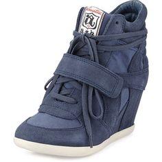 Ash Bowie Suede Wedge Sneaker