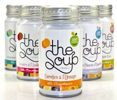 Healthy instant soup products with beautiful package design.