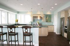 "Benjamin Moore ""Palladian Blue"" love the color and the kitchen!!!"