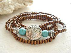 Yoga Bracelet  Yoga Jewellery  Boho Jewellery  by HandcraftedYoga, $27.00
