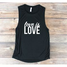Gay Pride Shirt Love Is Love Shirt Muscle Tank Muscle Shirt Pride... ($25) ❤ liked on Polyvore featuring tops, grey, tanks, women's clothing, muscle tank, graphic muscle tank, graphic shirts, graphic tanks and gray shirt