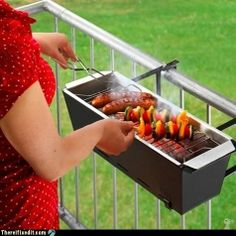 For the apartment griller - cool idea take a planter concept and make it a grill!