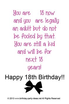 18 Year Old Birthday Quotes Quotes
