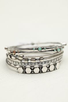 Chic Bangles from Free People. Bohemian and adorable.