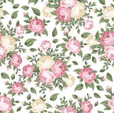 Resultado de imagem para papel com rosas e fundo branco