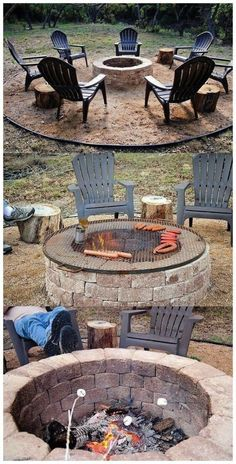 Pergola Patio Dining - - Backyard Pergola With Roof - Pergola Terrasse Plante - - Garden Fire Pit, Fire Pit Backyard, Backyard Patio, Backyard Landscaping, Backyard Ideas, Backyard Seating, Firepit Ideas, Patio Ideas, Backyard Fireplace