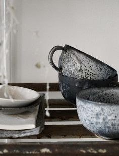 Ceramics by Rene Redzepi. A bowl shaped cup or mug is my favorite. I wish more potters would try it. Too many mugs!