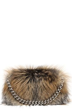 f93faffc04f Alexander McQueen Genuine Fox Fur Folded Clutch