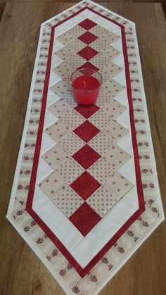 more hearty good wishes table runner This striking Scandinavian themed patchwork table runner in Just because they are by jdcreativehands on etsy – Artofit Quilt Pattern how to quilt the twisted pole runner in two c Quilted Table Runners Christmas, Patchwork Table Runner, Christmas Patchwork, Christmas Runner, Table Runner And Placemats, Quilted Table Runner Patterns, Quilt Table Runners, Christmas Log, Bed Runner