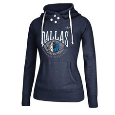 adidas Dallas Mavericks Women's Navy Blue Pullover Hoodie
