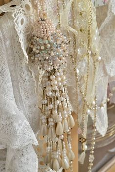 Vintage lace and jewels