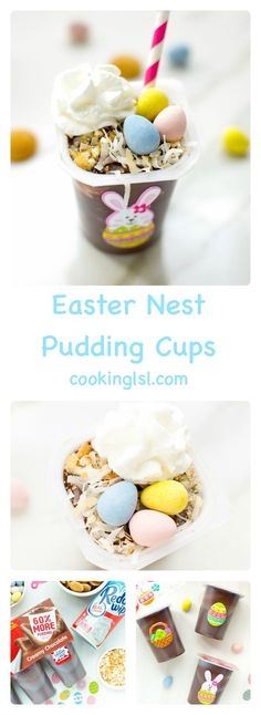 Easter Nest Pudding Cups #cbias #ad #SnackPackMixins