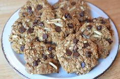 Flourless, chocolate chip, oatmeal lactation cookies