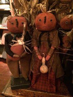 Family of pumpkin folk