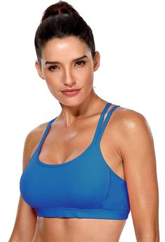 1144cec6f561a ATTRACO Sports Bra for Women Adjustable Active Push Up Padded Sports Bra at Amazon  Women s Clothing store
