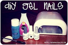 DIY Gel Nail Tutorial.  Great tips!  Make sure to read the comments!