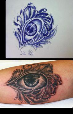 realistic tattoo #eye tattoo