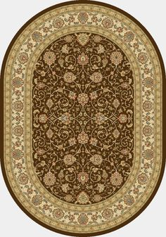 Traditional Classic patterns with an updated fresh look. Sophisticated color palette focusing on antique shades and design details that bring a refined hand kno Dynamic Rugs, Border Rugs, Synthetic Rugs, Classic Rugs, Machine Made Rugs, Brown Rug, Traditional Rugs, Garden Styles, Home Remodeling