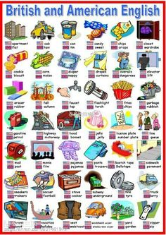 British and American English - I love that Australian English is EXTREMELY similar to British English. I'd fit in over there :)British and American English - I love that Australian English is EXTREMELY similar to British English. English Tips, English Class, English Words, English Lessons, English Grammar, Teaching English, Learn English, English Language, English English