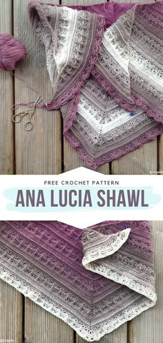 Ana Lucia Shawl Free Crochet Pattern It has lovely scalloped edging, bold tassels and amazing ombre in trendy greys and pinks. So delicate and intricate, this triangular design is elegant but will also look great with jeans. Crochet Shawl Free, Knit Or Crochet, Crochet Scarves, Crochet Clothes, Crochet Things, Lion Brand Mandala Yarn, Prayer Shawl Patterns, Pink Shawl, Crochet Patterns