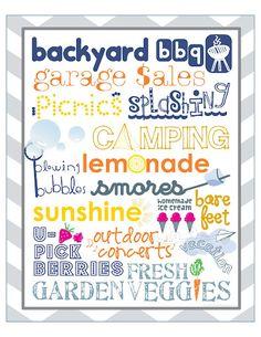 fonts for summer.