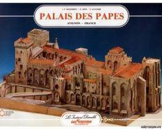 Papal Palace / Palais des Papes (L'Instant Durable 26) paper, paper model download free. Papercraft, paper model free download template.