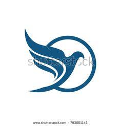 Bird logo, vector logo template