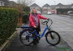 Mrs Mitchell taking delivery of her RooDog Chic #electricbike We wish you lots of fun with your new #ebike purchase. Short People, Electric Blue, Pearl White, Bicycle, Delivery, Chic, Stylish, Fun, Beautiful
