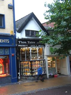 The oldest shop in Preston, Lancashire. Situated opposite the Harris Museum