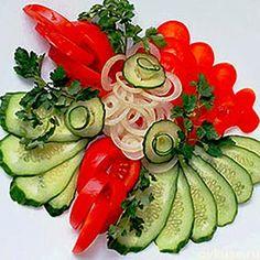 ▲Красивая подача овощных нарезок▲