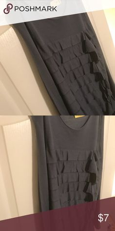 Grey blouse This lovely grey blouse looks great w slacks, jeans, and more! Lightweight fabric! Tops Blouses