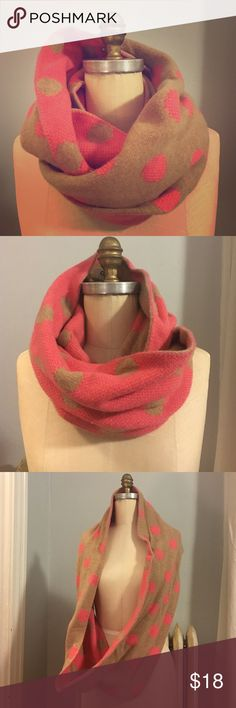 Polka dot reversible wool scarf Super fun and versatile cozy infinity scarf J. Crew Accessories Scarves & Wraps