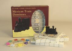 Double 12 Color Dot Dominoes Mexican Train,  hot game, very fun game, buy for gift giving early! http://www.thegamesupply.com/dominos #dominoessets #mexicantraingame