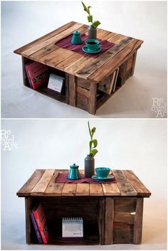Wood Pallet Furniture - Cool Examples Of Creative Wood Pallet Recycling Wood Pallet Planters, Wood Pallet Recycling, Pallet Patio Furniture, Pallet Crafts, Diy Pallet Projects, Pallet Ideas, Wood Projects, Recycling Furniture, Recycled Wood Furniture