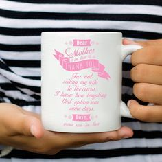 Mothers Day Idea - Coffee Mug For Mother-in-law From Bride - mother day gifts idea for mom in law Mom In Law, Mother In Law, Mother Of The Bride, Bride Gifts, Wedding Gifts, Mom Day, Best Mom, Mother Day Gifts, Perfect Wedding