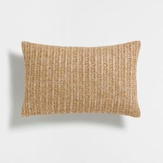 BEIGE BRAIDED CUSHION