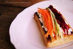 Folhadinhos com Queijo Fresco e Esparguete de Legumes - http://gostinhos.com/folhadinhos-com-queijo-fresco-e-esparguete-de-legumes/
