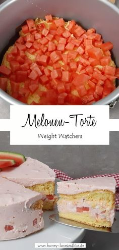 Weight Watchers Melonen-Torte aus dem WW Backbuch #WeightWatchers #MelonenTorte #WeightWatchersMelonenTorte Snacks, Cereal, Cheesecake, Easy Peasy, Breakfast, Desserts, Party Ideas, Finger Food, Pies